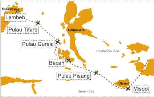 Misool & Halmahera (Sorong-Ternate)